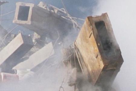 Khalezov-911 09 WTC perimeter core columns on ground zero