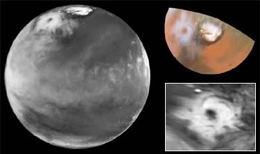 Gigantischer Hurrikan auf dem Mars