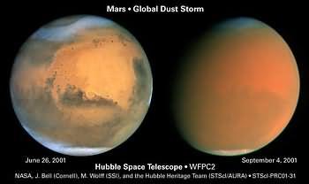 Globaler Staubsturm auf dem Mars
