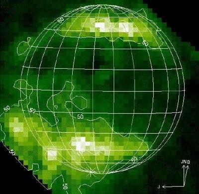 Sauerstoffleuchten im Polarlicht Ganymeds
